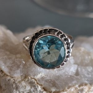 Jewelry - Blue Topaz Sterling Silver Ring